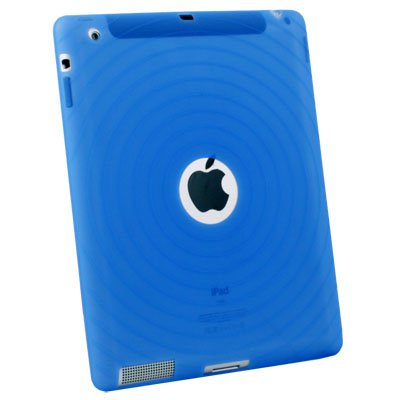 For APPLE iPad2 Blue Silicone Skin Case Cover