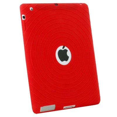 Red Silicone Case Cover for Apple iPad 2 2G 2nd Gen