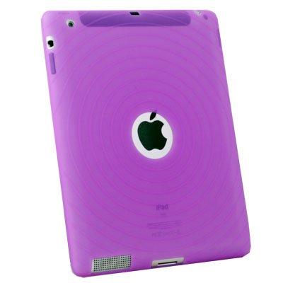 For APPLE iPad2 Purple Silicone Skin Case Cover