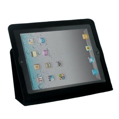 For iPad 2 Ultra Slim Leather Case With Stand Black