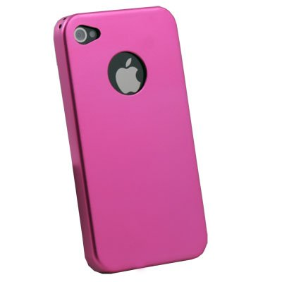 Aluminum Metal Cover Case For iPhone 4 4G Pink