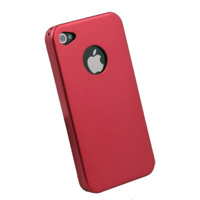 For Apple iPhone 4 4G Aluminum Metal Cover Case Red