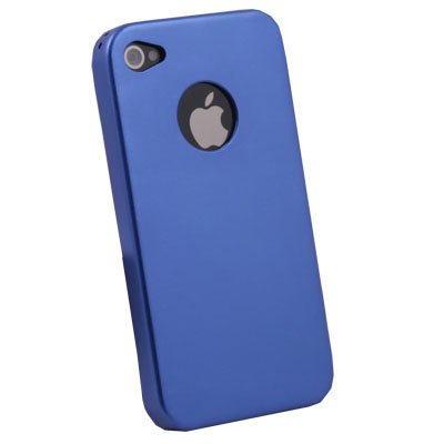 Aluminum Metal Cover Case For Apple iPhone 4 4G Blue