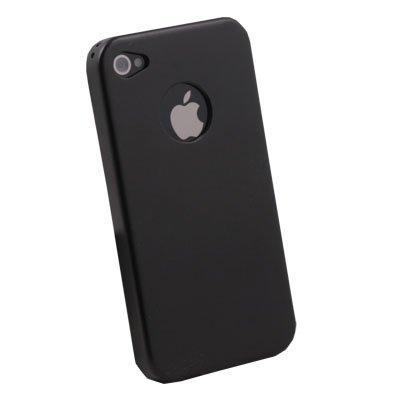 For iPhone 4 4G Black Aluminum Metal Cover Case