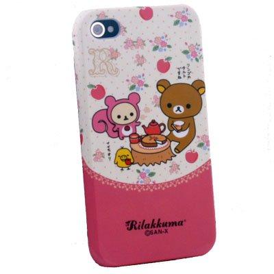Pink Rilakkuma Cute Hard Case for Apple iPhone 4