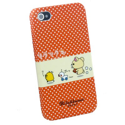 Orange Rilakkuma Cute Hard Case for Apple iPhone 4