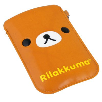 For iPhone 4 4S Android Rilakkuma Bear Leather Case Bag
