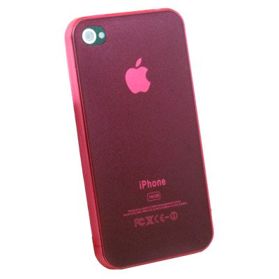 Super Thin 0.35mm 3.5g Slim Case for iPhone 4G Red