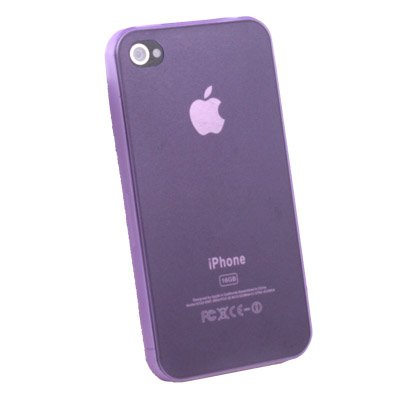Super Thin 0.35mm 3.5g Slim Case for iPhone 4G Purple