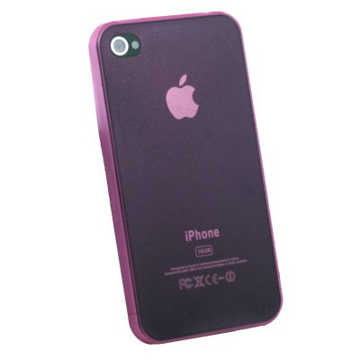 For iPhone 4G Super Thin 0.35mm 3.5g Slim Case (Pink)