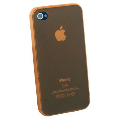 For iPhone 4G Super Thin 0.35mm 3.5g Slim Case (Orange)