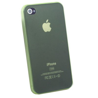 Super Thin 0.35mm 3.5g Slim Case for iPhone 4G Green