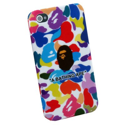 Camouflage Rubber Case Cover for Apple iPhone 4 Color
