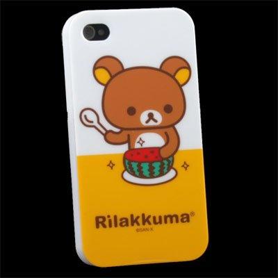 Rilakkuma Bear TPU Soft Case for Apple iPhone 4