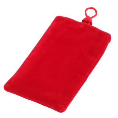 Red Suede Fabric Sleeve Pouch Bag for iPhone4/4S 3G/3GS