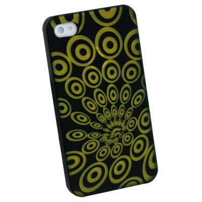 Laser Ripple Hard Case Back Cover for Apple iPhone 4 4G 4S Yellow