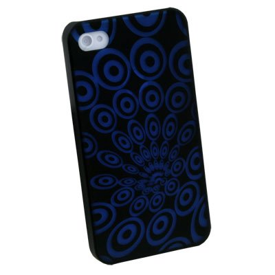 Blue Laser Ripple Plastic Case back Cover for iPhone 4 4G