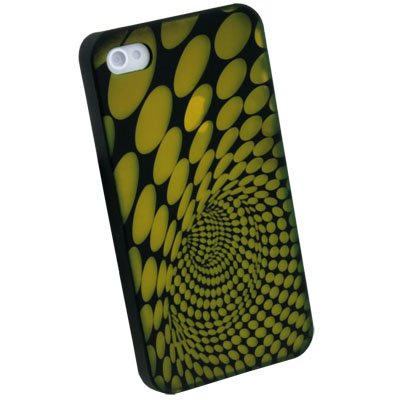 Yellow Laser Dot Plastic Case back Cover for iPhone 4G