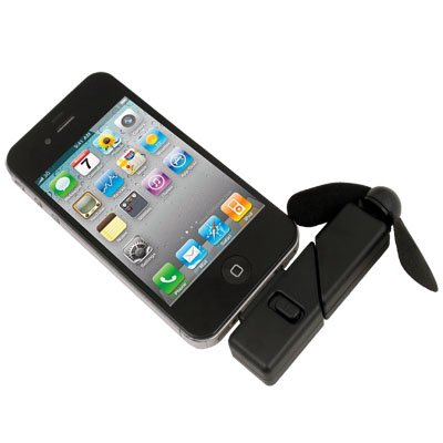 Black Newest Cool Dock Fan Gadgets Cooler for Iphone 4