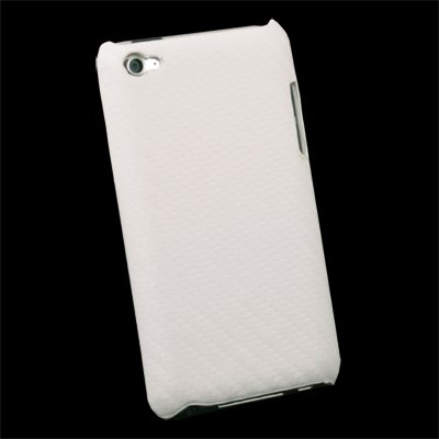 White Matts Pattern Hard Case For Apple iPod Touch 4