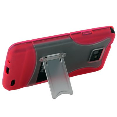 Hard Stand Case Cover for SAMSUNG GALAXY S2 i9100(Red)