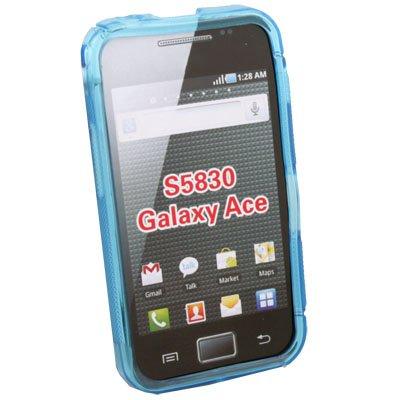 TPU Gel Skin Case Cover gor Samsung S5830 Galaxy Ace Azure