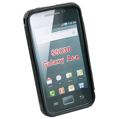 For Samsung S5830 Galaxy Ace Soft TPU Skin Case Cover Black
