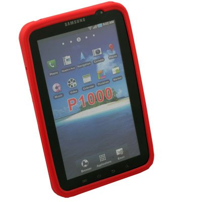 Silicone Soft Case for Samsung Galaxy P1000 (Red)