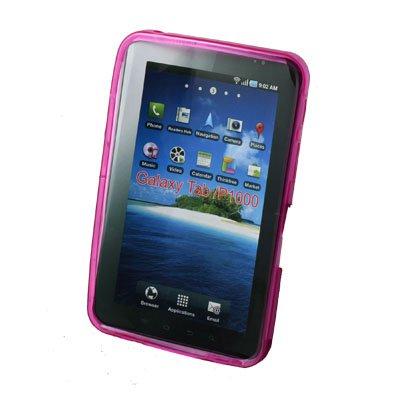 Pink TPU Gel Skin Case For Samsung P1000 Galaxy Tab