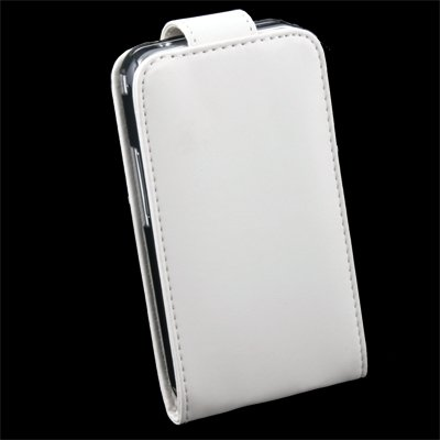 For Samsung S5830 PU Leather Case White