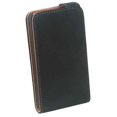 For Samsung i9100 PU Leather Case Black