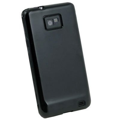 Black Glossy TPU Skin Case for Samsung Galaxy S2 i9100