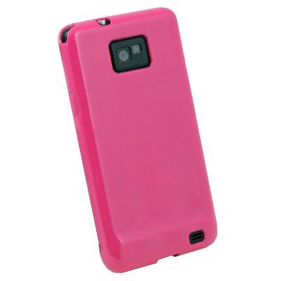 Peach Glossy TPU Gel Skin Case Cover for Samsung Galaxy S2 i9100