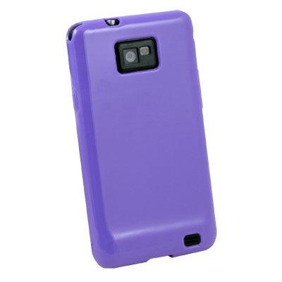 Purple TPU Skin Hard Case Cover for Samsung Galaxy S2 i9100