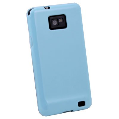 Blue Glossy TPU Skin Case for Samsung Galaxy S2 i9100