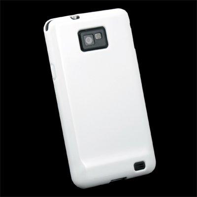 For Samsung Galaxy S2 i9100 White Glossy TPU Hard Skin Case