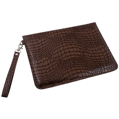 Brown PU Serpentine Leather Case for Samsung Galaxy Tab 10.1