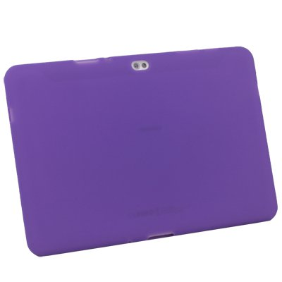 For Samsung Galaxy Tab 10.1v Silicone Skin Case Cover Purple