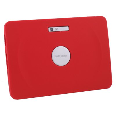 Red High Quality Silicone Case Cover for Samsung Galaxy Tab 10.1v