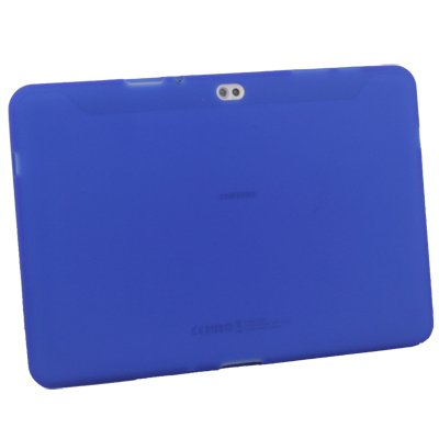Silicone Skin Case Cover for Samsung Galaxy Tab 10.1v (blue)