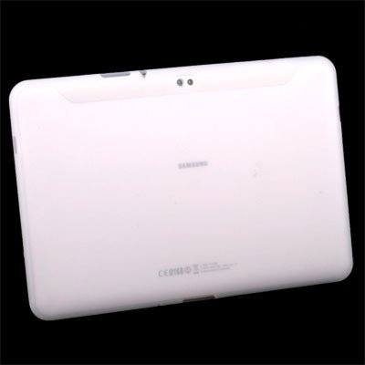 White Silicone Skin Case Cover for Samsung Galaxy Tab 10.1v