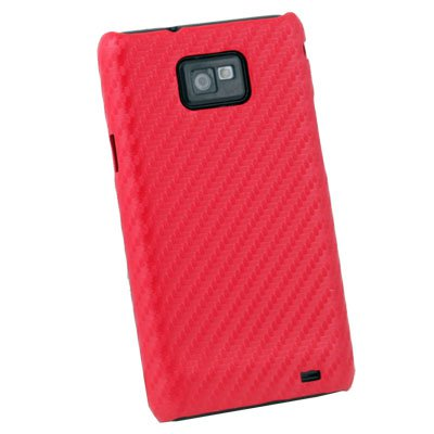 For Samsung Galaxy S2 i9100 Matts Pattern Hard Case Red