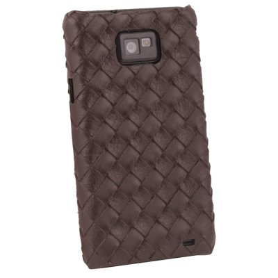 Matte Pattern Hard Case For Samsung Galaxy S2 i9100 Brown