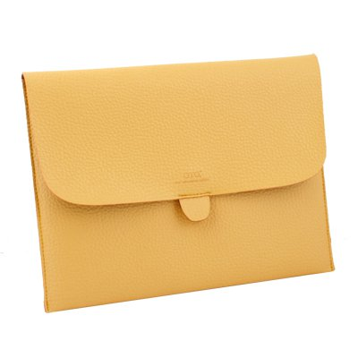 Briefcase Leather Case Pouch Bag For iPad 1/2 (Yellow)