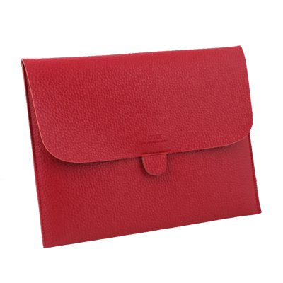 Red Briefcase Leather Case Pouch Bag For Apple iPad 1/2