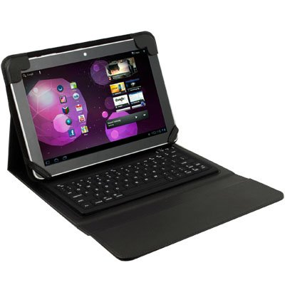 Bluetooth Keyboard With Leather Case For Samsung P7510
