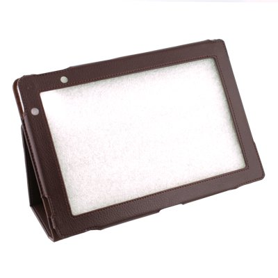 For Acer Iconia Tab A500 Brown Stand Leather Case Cover