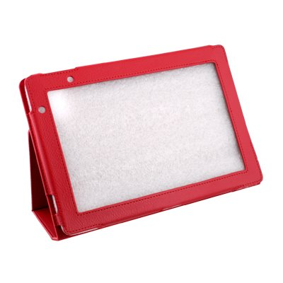 For Acer Iconia Tab A500 Stand Leather Case Cover Red