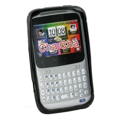 Soft TPU Gel Silicone Back Case for HTC ChaCha G16 Black