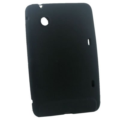 Silicone Skin Case Cover for HTC Flyer Tablet Black #6751#